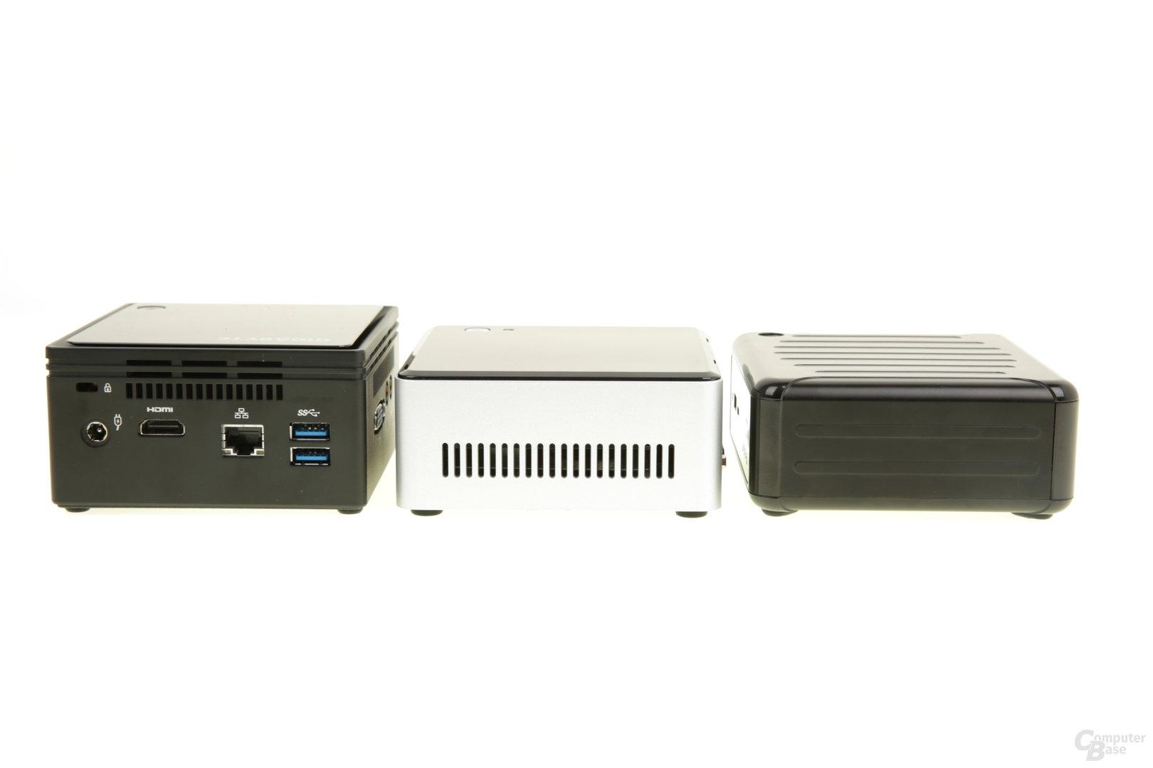Gigabyte Brix, Intel NUC und ASRock Beebox