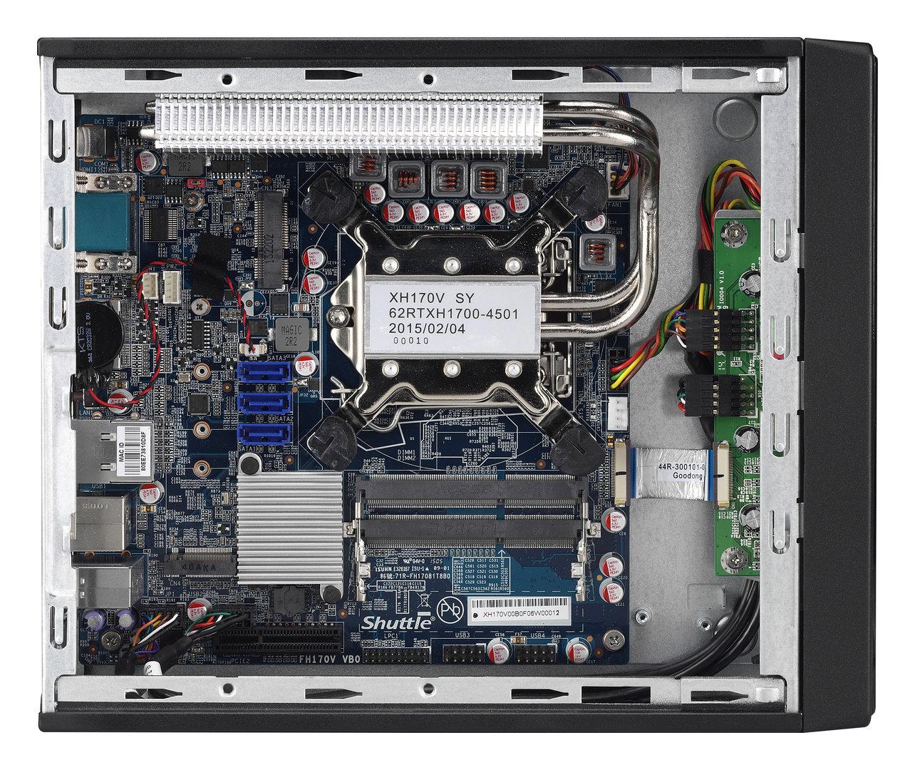 Das Mini-ITX-Mainboard auf Basis des H170-Chipsatzes kann mit DDR3L-RAM bestückt werden