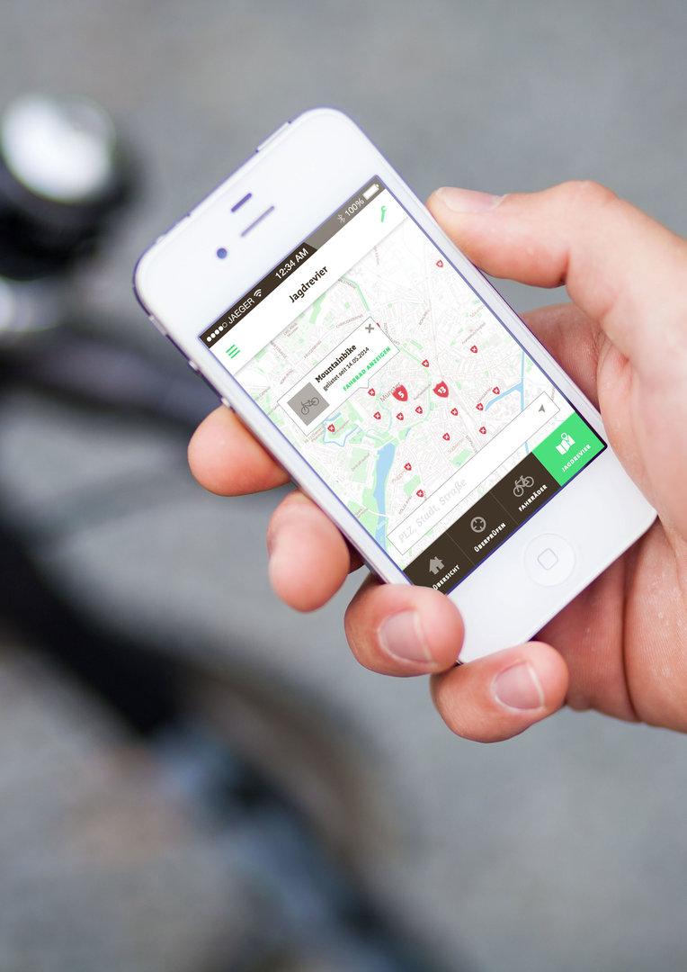Fahrradjäger-App