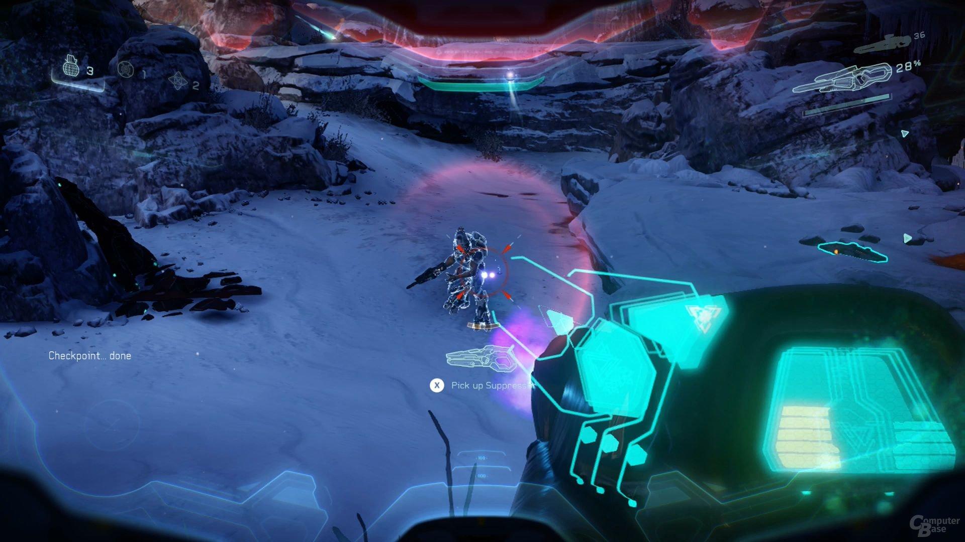 Das Anlegen der Waffe wird in Halo 5 wichtig
