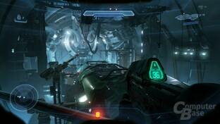 Sci-Fi-Panorama bietet Halo 5 zur genüge – es fehlen Sci-Fi-Hintergründe