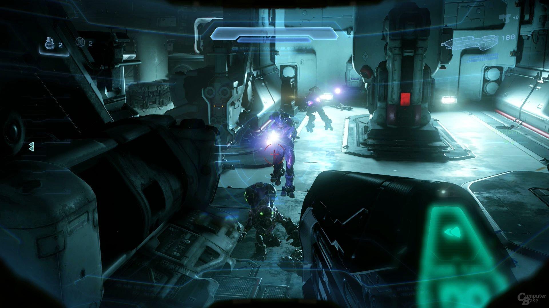 Der Stil dieser Mission lehnt sich an Halo 4 an