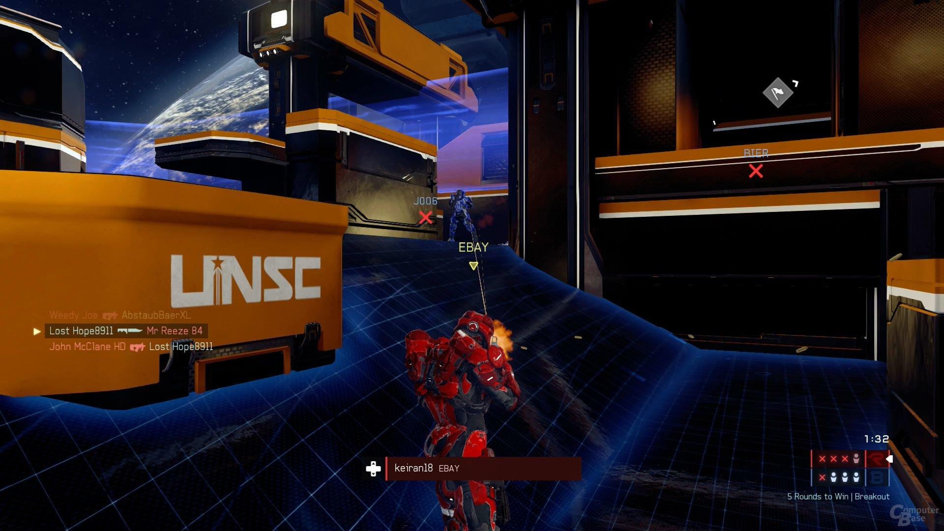 Im Breakout-Modus besitzen Spieler nur ein Leben
