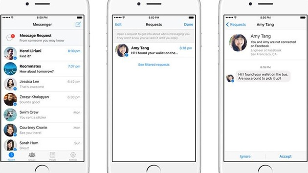 Facebook Messenger: Neue Chat-Funktion Message Requests