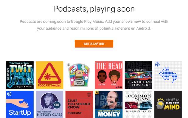 Google Play Music wird um Podcasts erweitert