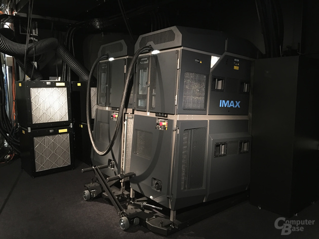 Die zwei neuen 4K-Laserprojektoren im IMAX Berlin