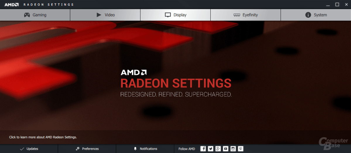 AMD Crimson Edition – Treibermenü