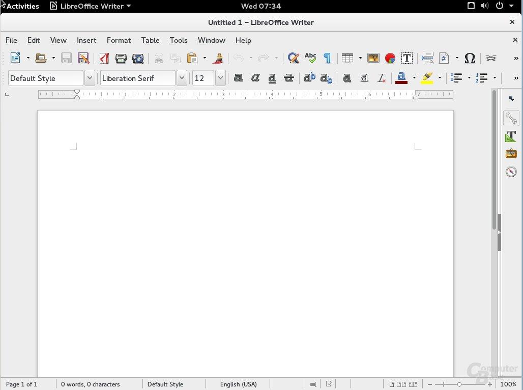 Fedora 23 Libre Office 5.0