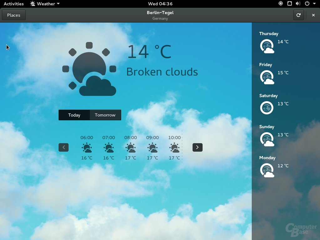 Fedora 23 Weather