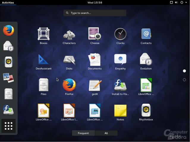 Fedora 23 Gnome Shell