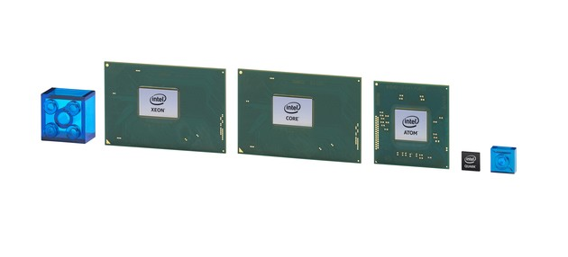 Intels neuer Quark für IoT (rechts) ist winzig