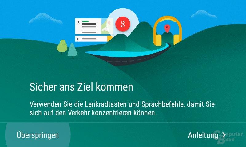 Erstnutzung von Android Auto