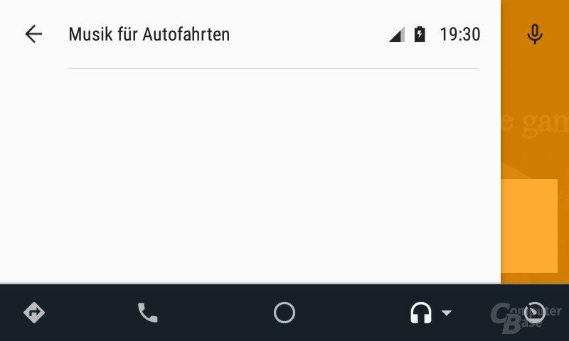 Android Auto: Leere Menüs