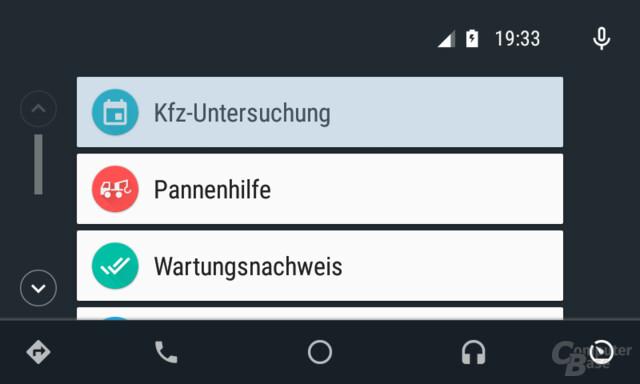 Android Auto: Entwickleroptionen geben neue Menüs für die PKW-Diagnostik frei