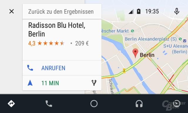 Android Auto: Informationen zum Ziel
