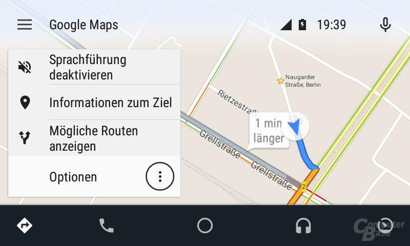 Android Auto: Optionen während der Fahr