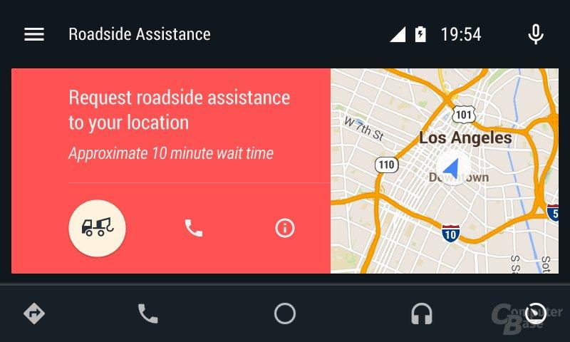 Android Auto: Pannenhilfe