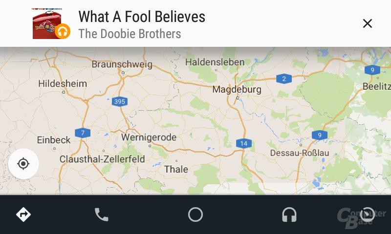 Android Auto: Hinweis für Start von neuem Lied