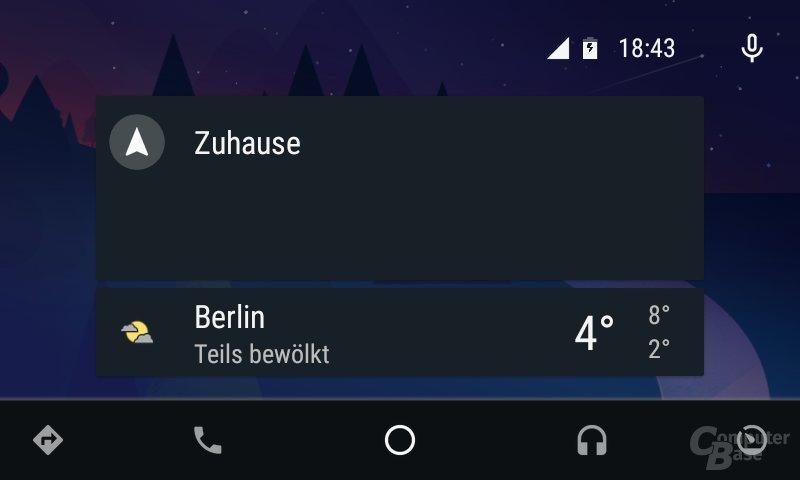 Android Auto: Zum Feierabend Vorschlag für Fahrt nach Hause