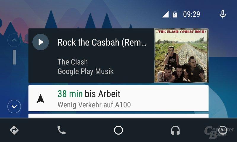 Android Auto: System schlägt Weg zur Arbeit vor