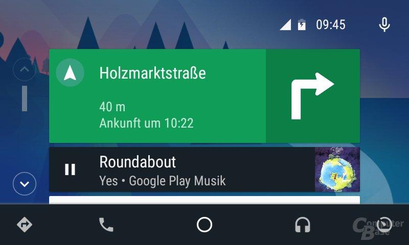 Android Auto: Navigation ist immer sichtbar