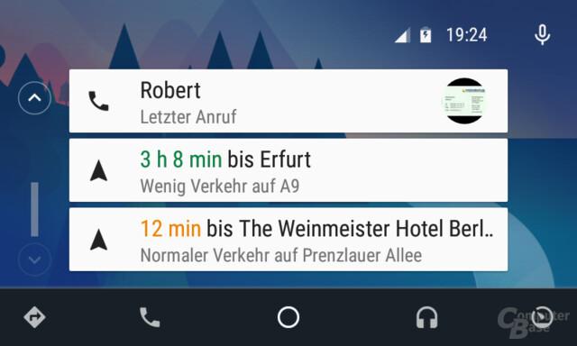 Android Auto: Homescreen mit schlauen Karten