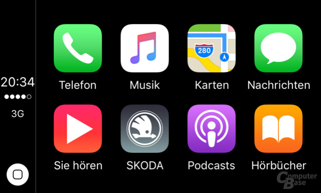 CarPlay: Homescreen