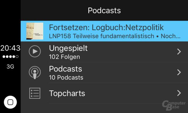 CarPlay: Podcasts