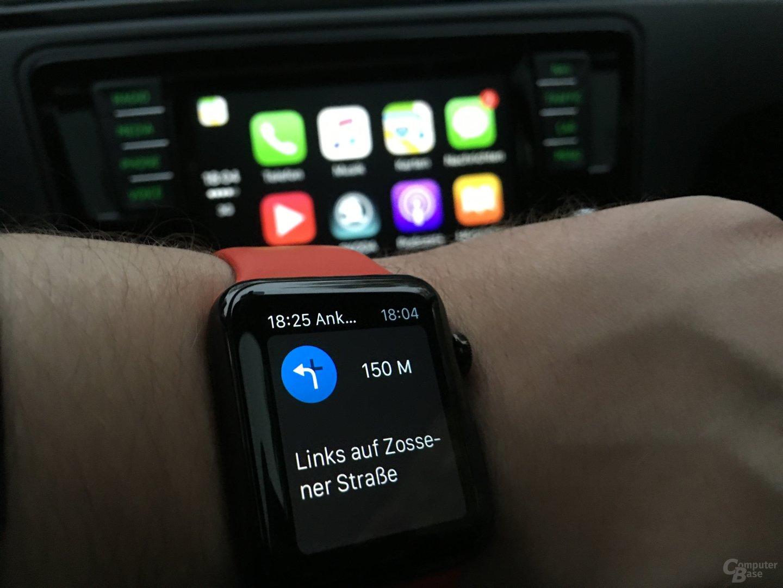 CarPlay: Apple Watch für haptisches Feedback