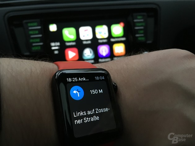 CarPlay: Apple Watch für haptisches Feedback