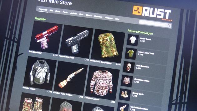 Item Store: Entwickler verkauft Kleider und Waffen für Rust auf Steam