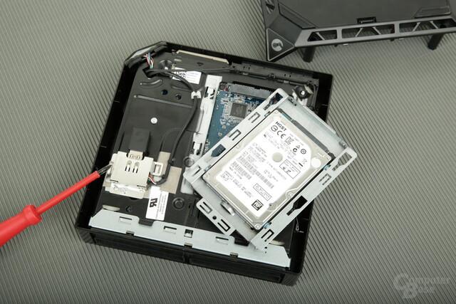 Fünf Schrauben trennen Anwender bei Alienware von der HDD