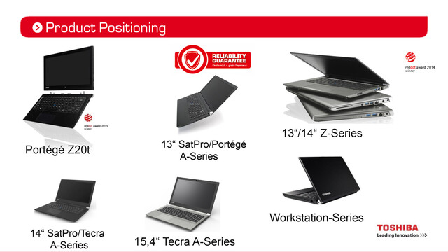 Neue Toshiba Notebooks