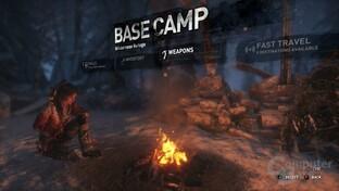 Camps dienen wie gehabt als Stützpunkte zur Schnellreise und Charakterentwicklung