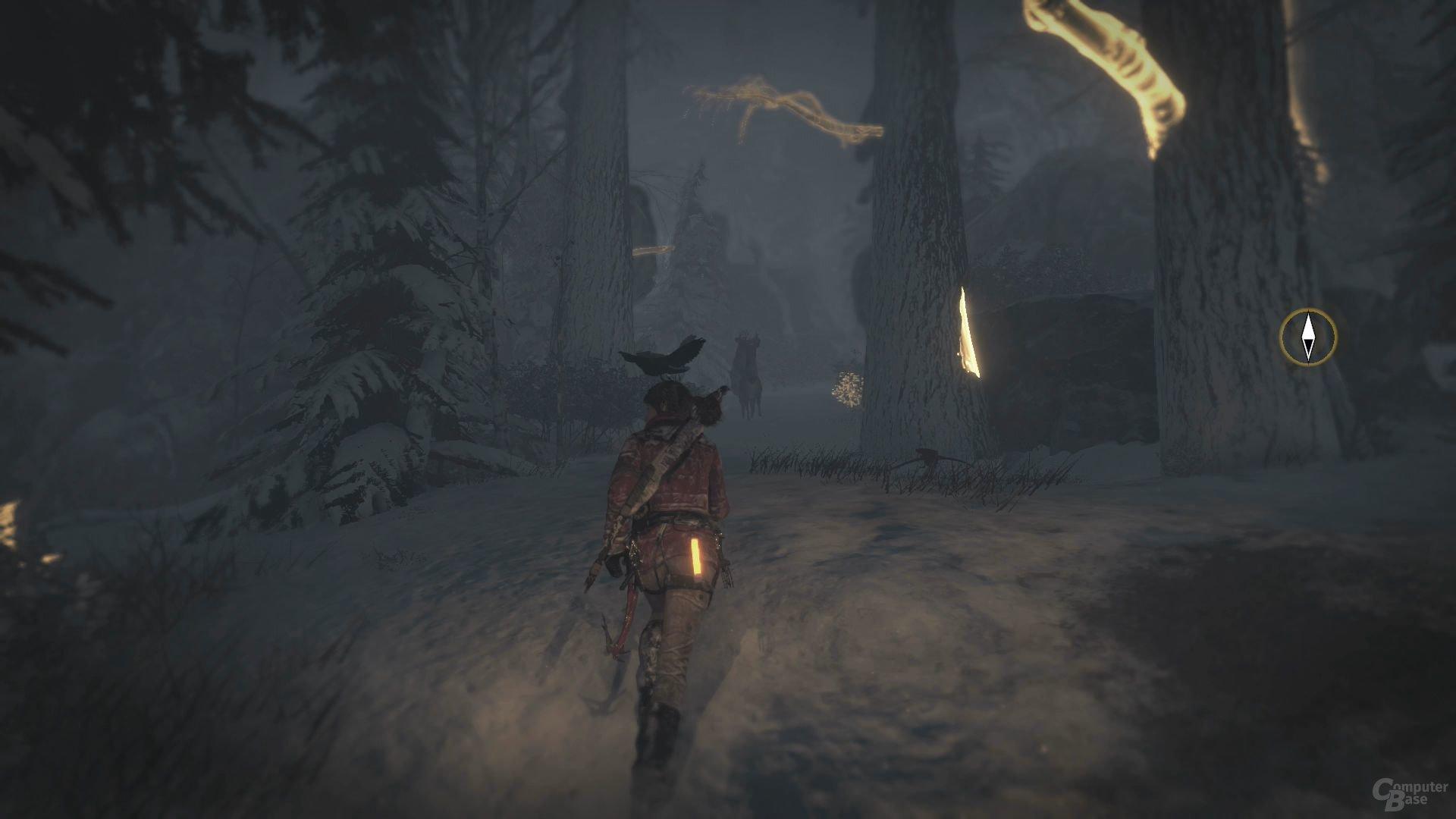 Eine spezielle Sicht unterstützt bei Exploration und Kampf