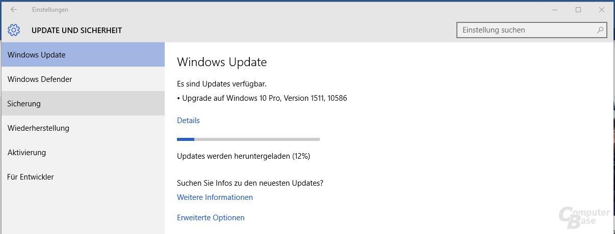 Herbstupdate für Windows 10