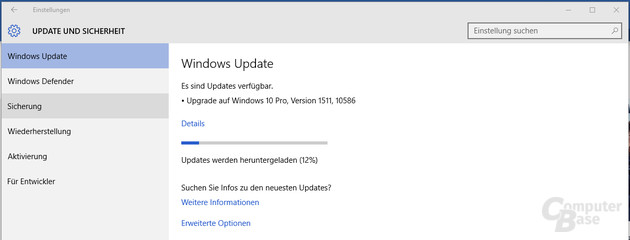 Herbstupdate für Windows 10