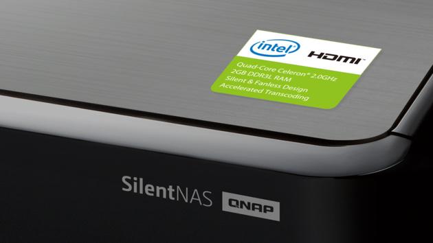 QNAP HS-251+: Lüfterloses 2-Bay-NAS mit HDMI und Celeron J1900