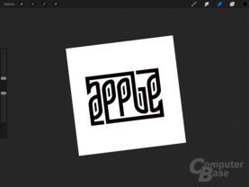 Dieser Apple-Schriftzug ist freihand gezeichnet worden