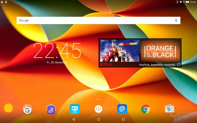 Android 5.1 Lollipop mit Netflix Widget