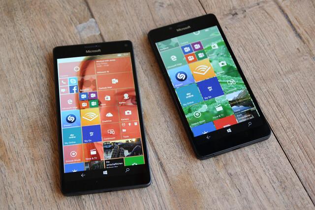 Lumia 950 XL mit 5,7 Zoll und Lumia 950 mit 5,2 Zoll