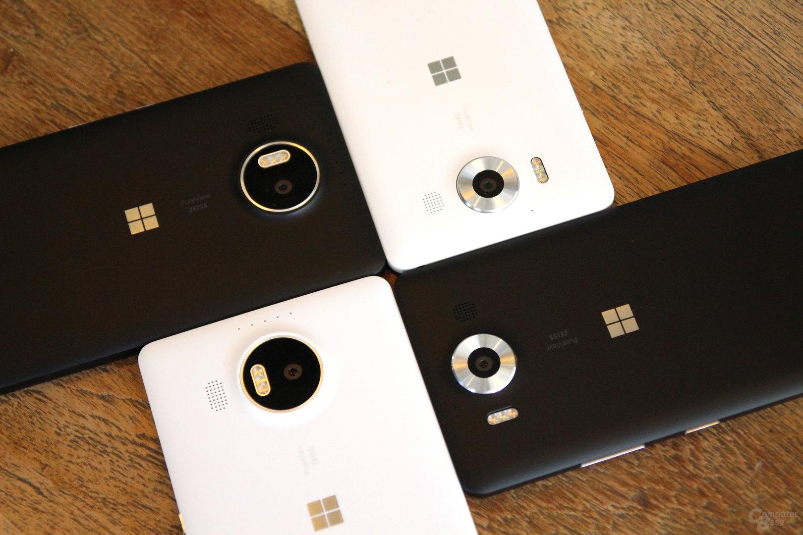 Lumia 950 und 950 XL gibt es nur in Schwarz oder Weiß