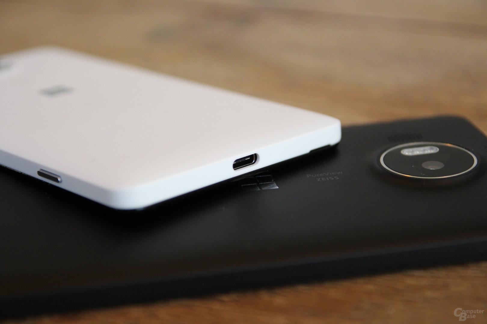 USB Typ C haben beide Geräte