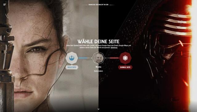 Google und Star Wars mit neuen Themes