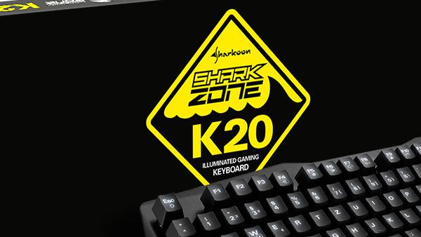 Sharkoon Shark Zone K20: 35 Euro teure Spielertastatur mit Metallgehäuse