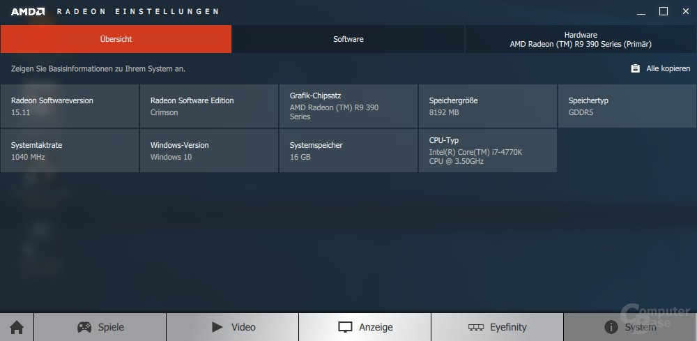 AMD Radeon Software Crimson Edition 15.11 im Test