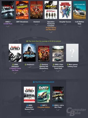 Das aktuelle Codemasters-Bundle umfasst vor allem Rennspiele