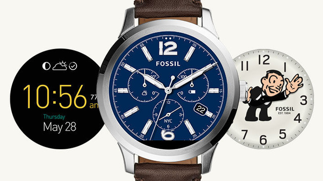 Fossil Q Founder: Smartwatch mit massivem Edelstahlgehäuse und Intel-SoC