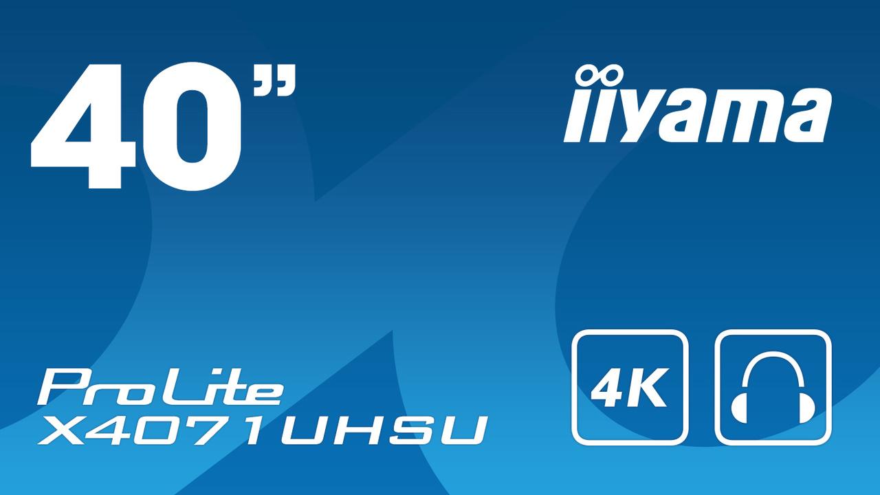 Prolite X4071UHSU-B1: iiyamas größter Monitor hat 40 Zoll und Ultra HD