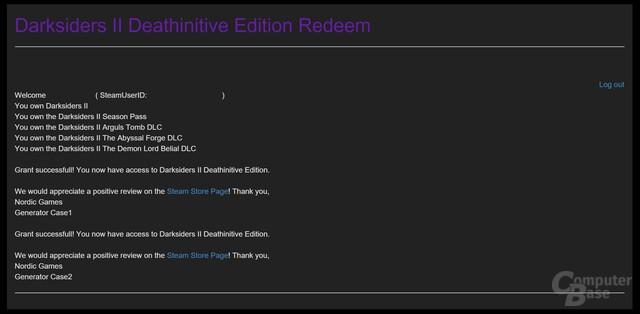 Um die Deathinitive Edition gratis zu erhalten, ist der Besitz von Darksiders 2 Voraussetzung
